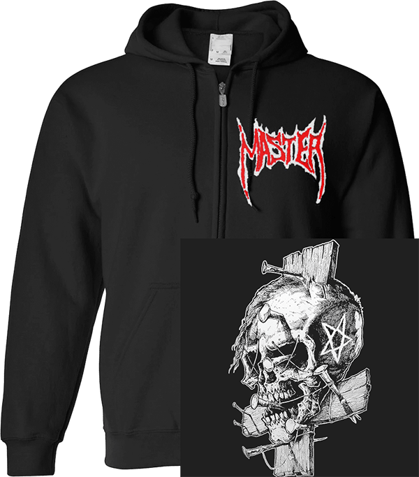 Master Skull and small logo Zipper Hoodie