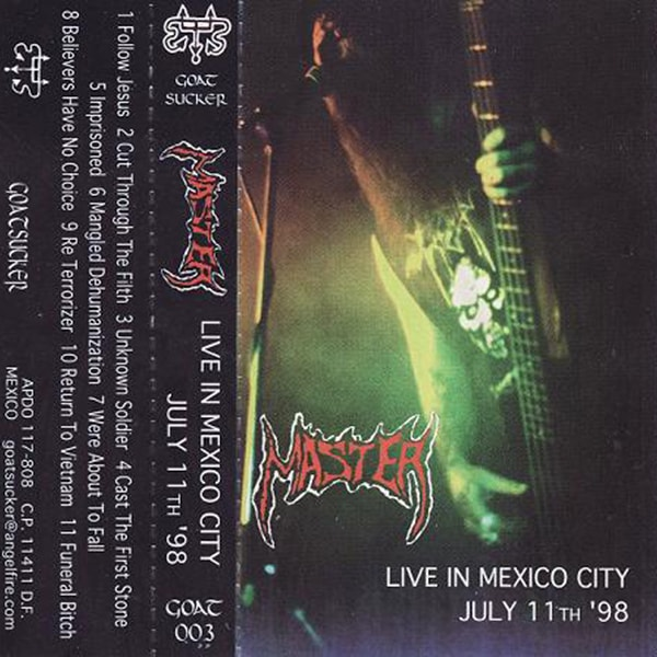 Master Live in Mexico City album cover artwork